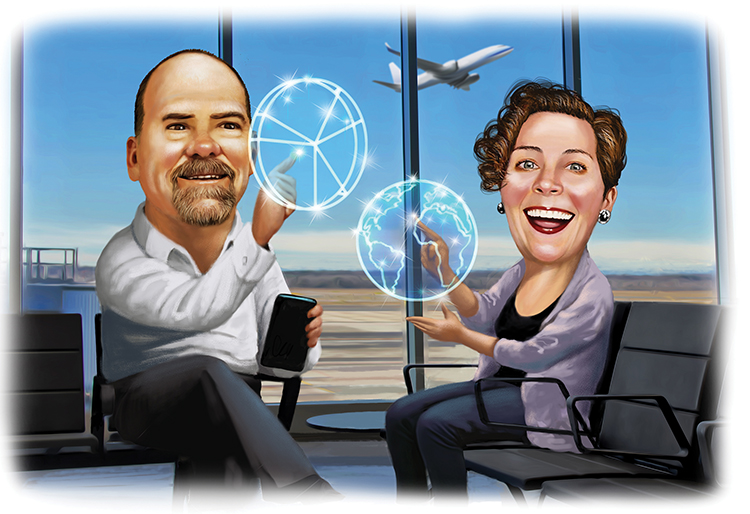 Standard Insurance's Bryan Redmond &  Tableau's Jennie RobertsonCredit: Illustration by Scott Pollack
