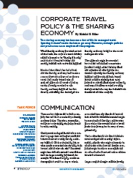 Corporate Travel Policy & the Sharing Economy