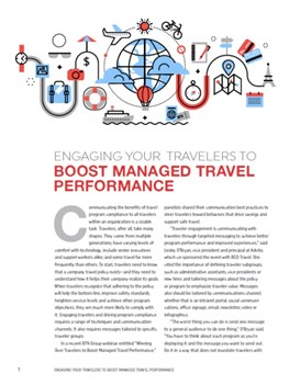 Engaging Your Travelers To Boost Managed Travel Performance