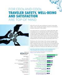 For CEOs and COOs, Traveler Safety, Well-Being and Satisfaction are Top of Mind