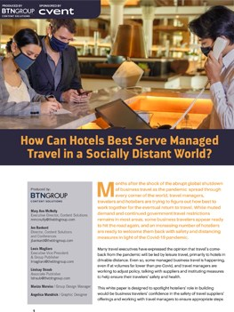 How Can Hotels Best Serve Managed Travel in a Socially Distant World?