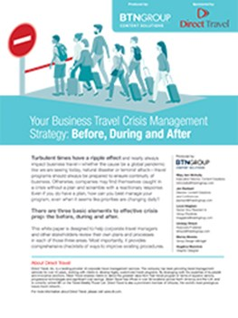 Your Business Travel Crisis Management Strategy