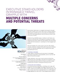 Executive Stakeholders in Managed Travel Grapple with  Multiple Concerns and Potential Threats