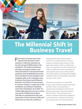 The Millennial Shift in Business Travel